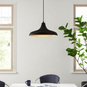 Firstlight, Curtis 1-Light Dome Pendant (OUTSIDE BLACK INSIDE COPPER) - RRP £69.99 (FSL3079 -