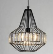 All Home, Gloria 1-Light Square/Rectangle Pendant - RRP £67.99 (JKID2426 - 14819/67) 5E