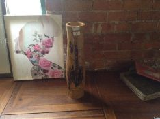 WOODEN DECORATIVE VASE MX11/7