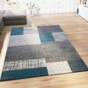 House Additions,Neu Turquoise/Grey Rug RRP -£58.99 (120x170cm) (14006/28 -HSU12140)