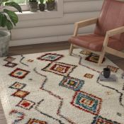 Mint Rugs,Nomadic Cream/Brown Rug RRP -£193.99 (200x290cm) (14006/10 -MIRU1161)
