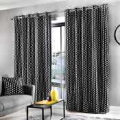 17 Stories, Tedesco Eyelet Curtains Blackout Thermal Curtains (SET OF 2)(OCHRE)(117X137CM) - RRP £