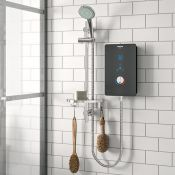 Bristan, Bliss Electric Shower with Slider Rail (BLACK & CHROME)(10.2Kw) - RRP £153.33 (BRSN1914 -