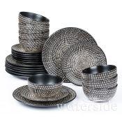 World Menagerie, Eunice 24 Piece Dinnerware Set, Service for 8 - RRP £64.99 (HJE10016 - 20761/5) 2C