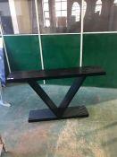 FIVE BLACK CONSOLE TABLE