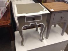 PAINTED 1 DRAWER LAMP TABLE