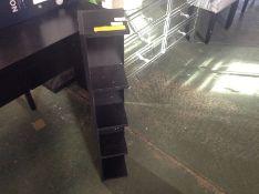 17 Stories ,Wheeler Stand Bookcase Colour: Black -71.99 H091120 - 9/28 -VCM1451.9061459