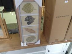 BOX OF 6 LEAVES PLAQUES