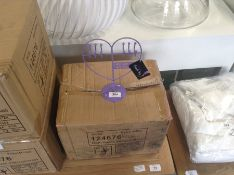 BOX OF APPROXIMATELY 24 HEAT SHAPE JEWELLERY STAND
