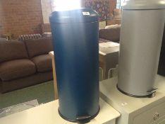  x1  Made Essentials Joss 40L Domes Bin In Blue  RRP-   NO CODE   DAMAGE 