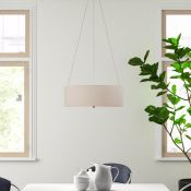 Fjørde & Co, Coello 3-Light Drum Pendant (TAUPE) - RRP £61.99 (ANDM1244 - 9531/30) 4F