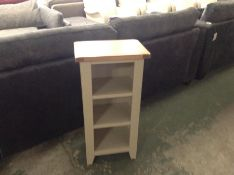 Chester Grey Painted Oak Small Wide Bookcase (NC-S