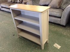Bergen Painted Oak Small Wide Bookcase(DAMAGE) (CH