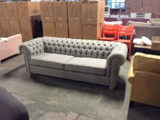 CHESTERFIELD TEXTURED WEAVE LT GRY 4 SEATER BED SO
