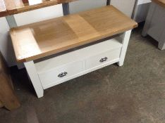 Chester White Painted Oak Small TV Unit (F67 - -NC