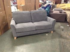 BROADWAY VELOUR DARK GREY 2 SEATER (RIPPED ON ARM)