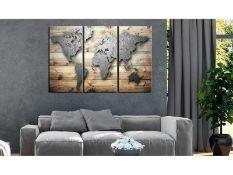 Zipcode Design, Doors to the World - 3 Piece Graphic Art Print on Wood - RRP £80.99 (ARGV0500 -