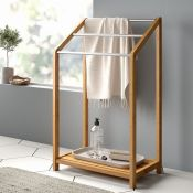 Brambly Cottage, Aultman Bamboo Freestanding Towel Holder - RRP £54.99 (RELX1609 - 20819/24) 1A
