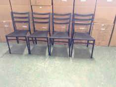 X4 BLACK PLASTIC STACKING CHAIRS (OPEN & RETURN)