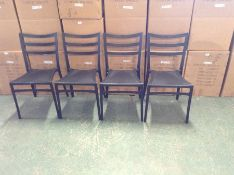 X4 BLACK PLASTIC STACKING CHAIRS (BOXED & RETURN)