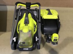 Ryobi 18V ONE+ Cordless 33cm Lawnmower with Battery and Charger