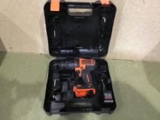Black + Decker Cordless Hammer Drill with Battery - 18V - £50.00 RRP