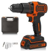 Black + Decker BCD700S1KA Hammer Drill with Battery - 18V, £50.00 RRP