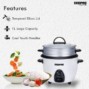 Geepas 1L Rice Cooker with Steamer - £22.99 RRP