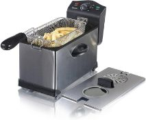 Swan 3L Stainless Steel Deep Fat Fryer with Viewing Window and Safety Cut Out, Non-Slip £37.99 RRP