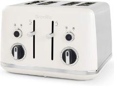 Breville Lustra 4-Slice Toaster with High Lift Matt White [VTT970] £34.00 RRP