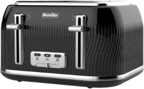 Breville VKT890 Flow 4-Slice Toaster with High-Lift and Wide Slots, Black £34.00 RRP