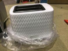 Daewoo SDA1781 Toaster, White - £24.49 RRP