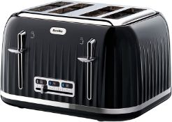 Breville VTT476 Impressions 4-Slice Toaster with High-Lift and Wide Slots, Black £34.99 RRP