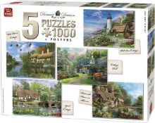 King Jigsaw Puzzle Cottage Collection 5 Puzzles 1000 Pieces