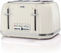 Breville VTT702 Impressions 4-Slice Toaster with High-Lift and Wide Slots, Cream