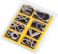 Eshowy IQ Toys IQ Test Mind Game Toys Brain Teaser Metal Wire Puzzles Magic Trick Toy Metal£5.98 RRP