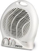 Pifco Upright Portable Fan Heater and Air Cooler, Adjustable Thermostat 2000 W, White £12.99 RRP