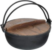 KitchenCraft World of Flavours Japanese Cooking Pot with Wooden Lid, Cast Iron £22.99 RRP