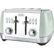 Breville Vtt768 Strata Collection 4 Slice Toaster, Matt Green
