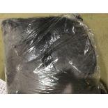 Fur Cushion, Charcoal, 55 x 55 Cm