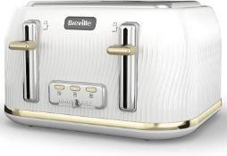 Breville Flow 4-Slice Toaster with High-Lift and Wide Slots | Camden Clay [VKT891] £34.00 RRP