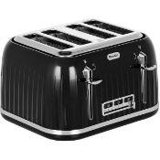Breville VTT476 4 Slice Toaster - Black/KitchenCraft Ceramic Cake Stand with Glass Dome