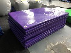 13no. Purple Plastic Coated Floor Mats 2000mm x 1200mm