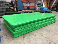 7no. Green Plastic Coated Floor Matts
