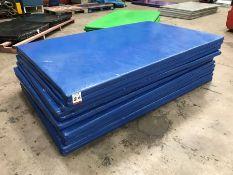 11no. Blue Plastic Coasted Floor Matts