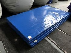 4no. Blue Plastic Coated Floor Mats 2000mm x 1200mm