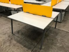 Square Double Sided Desk with Partition & 2no. Pedestals