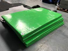 7no. Green Plastic Coated Floor Mats 2000mm x 1200mm