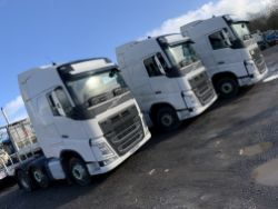 Unreserved Online Auction - 3no. 2015 Volvo FH13 460 Globetrotter XL Tractor Units