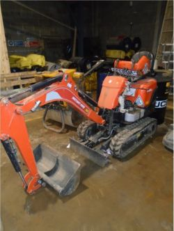 Unreserved Online Auction - STOLEN / RECOVERED 2018 Kubota K008-3 Excavator Complete with Buckets